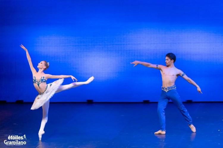Le Corsaire (pas de deux Act II) with Tatiana Melnik and Bakhtiyar Adamzhan © Graham Spicer, Daniele Cipriani Entertainment 2