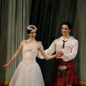 Curtain call for Shale Wagman and Olesya Novikova photo by Catherine Pollak