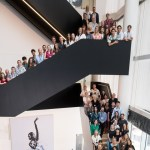 English National Ballet dancers and staff in the Dorfman Foyer, London City Island