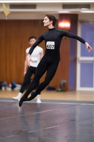 Shale Wagman in class at the Prix de Lausanne 2018, photo by Gregory Batardon