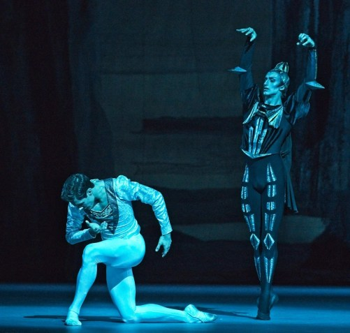 Jacopo Tissi with Egor Gerashchenko in Swan Lake, London 2019 © Malcolm Levinskind