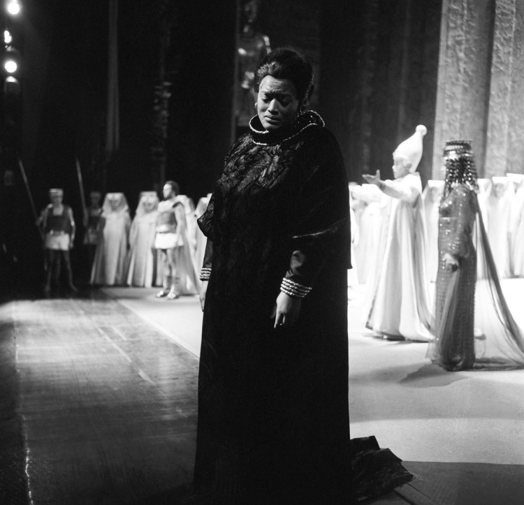 Jessye Norman in Aida in 1972, photo Erio Piccagliani