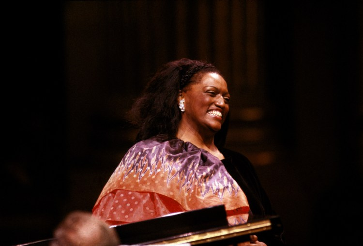 Jessye Norman in recital in 1987, photo by Lelli and Masotti