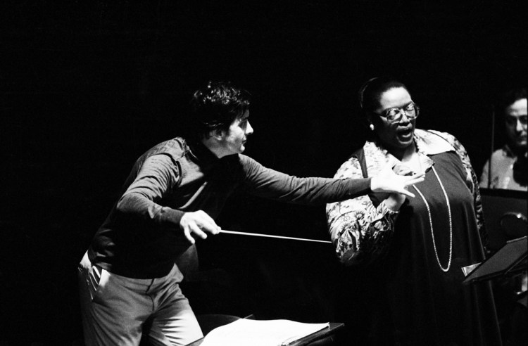 Jessye Norman's concert with Aldo Ceccato in 1977, photo by Erio Piccagliani