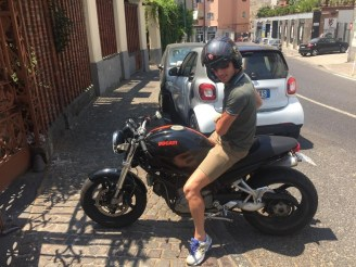 Alessandro and his Ducati