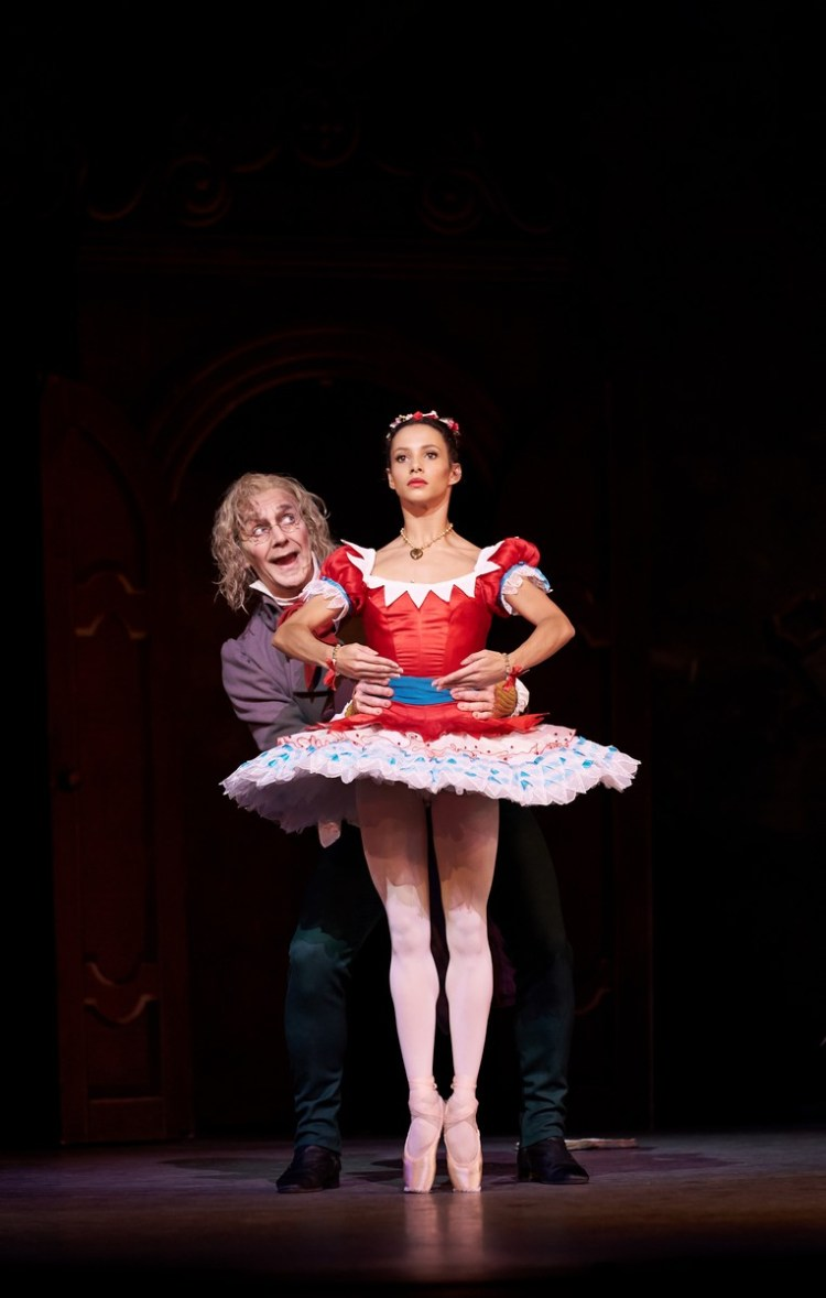 Coppélia with Francesca Hayward Gary Avis, photo Bill Cooper ROH