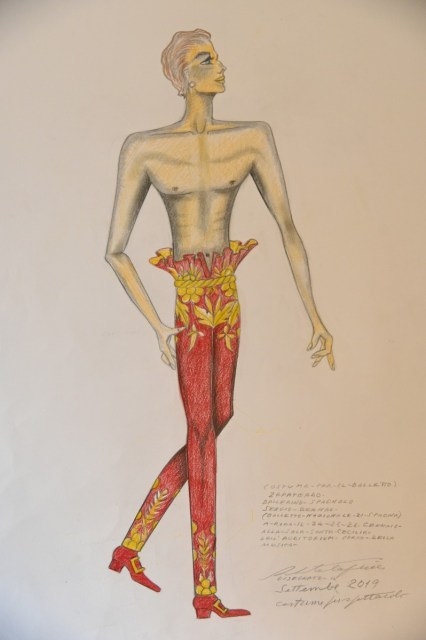 Fitting for Roberto Capucci's costumes for Les Étoiles © Cristiano Castaldi 18