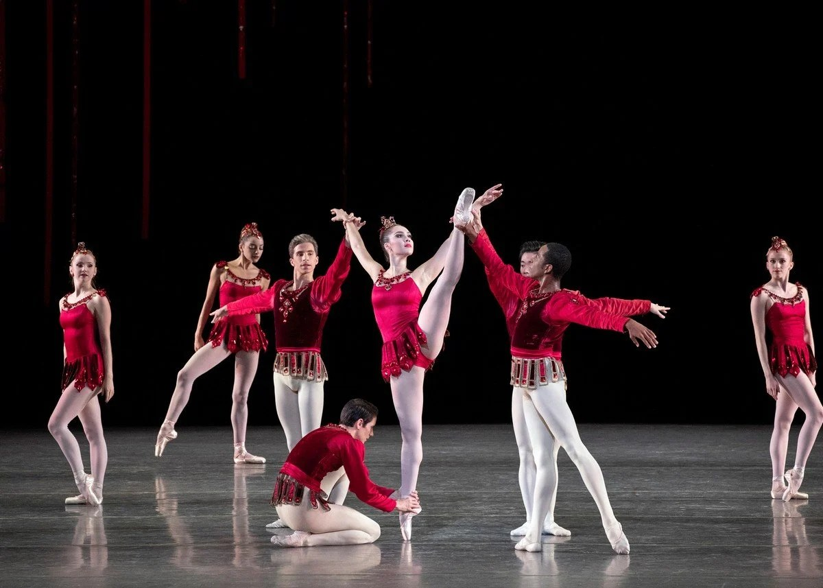 George Balanchine's Rubies with Mira Nadon and members of NYCB photo by Erin Baiano NYCB