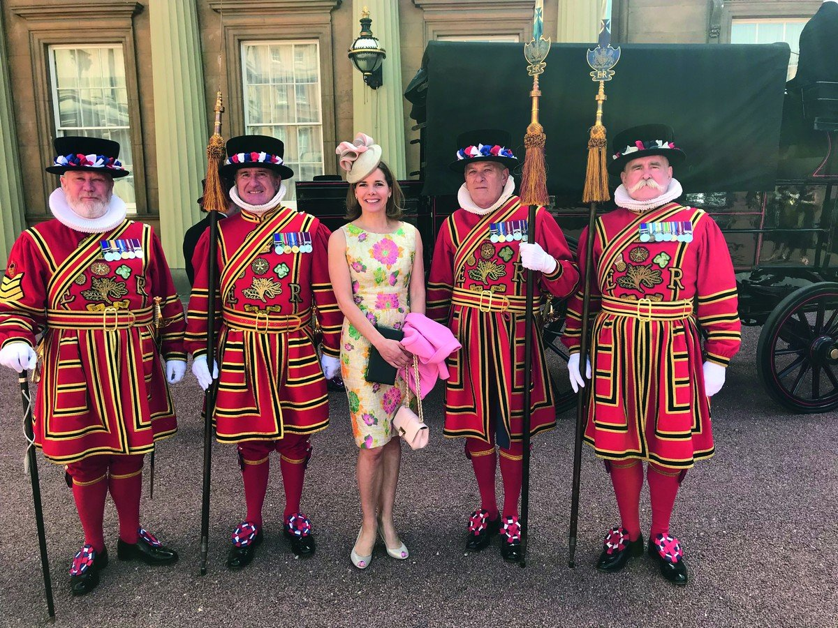 Darcey Bussell at Buckingham Palace after being made a Dame by Her Majesty the Queen