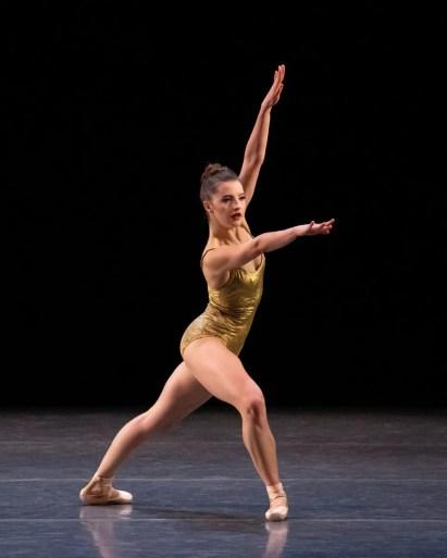 Indiana Woodward in Pam Tanowitz' Bartók Ballet, photo by Erin Baiano