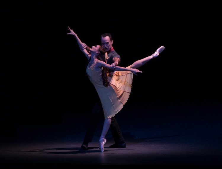 Lauren Lovette and Tyler Angle in Wheeldon's Carousel (A Dance), photo by Rosalie O'Connor