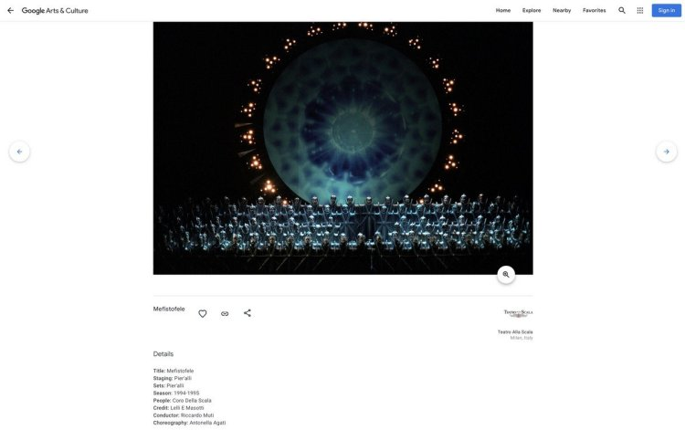 Mefistofele, photo Lelli e Masotti, Teatro alla Scala Google Arts and Culture