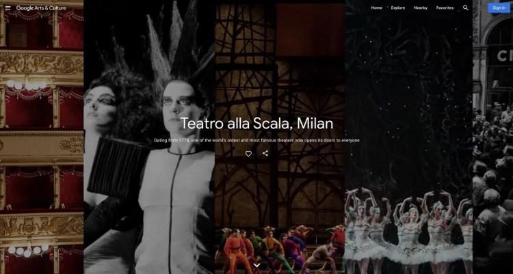 Teatro alla Scala and Google Arts and Culture