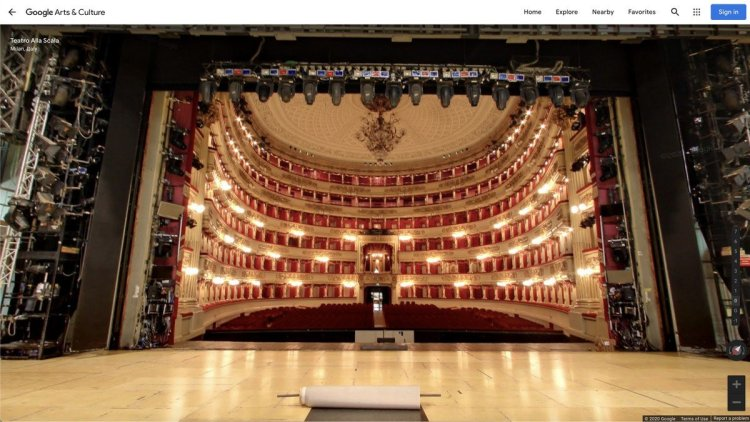 View from the stage, Street View, Teatro alla Scala Google Arts and Culture