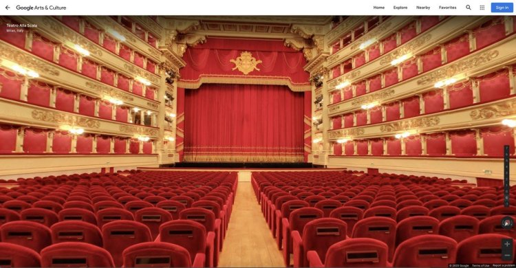 View of the stalls, Street View, Teatro alla Scala, Google Arts and Culture