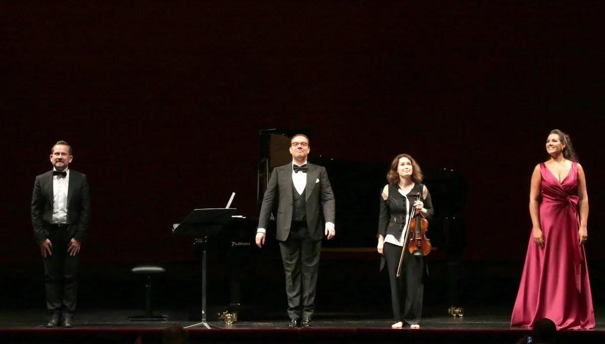 Giulio Zappa, Francesco Meli, Patricia Kopatchinskaja and Federica Lombardi © Marco Brescia, Teatro alla Scala 2020