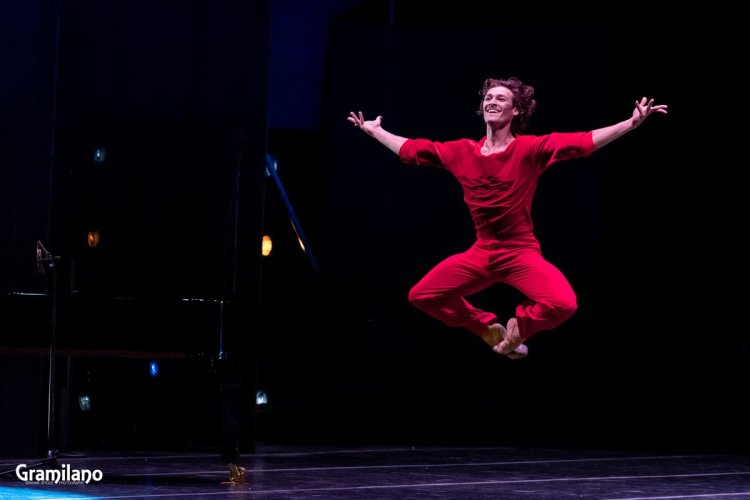 Hugo Marchand, happy to be back, dancing A Suite of Dances © Graham Spicer