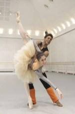 Yasmine Naghdi and Marcelino Sambé in rehearsal for Don Quixote, The Royal Ballet © 2019 ROH. Photograph by Andrej Uspenski