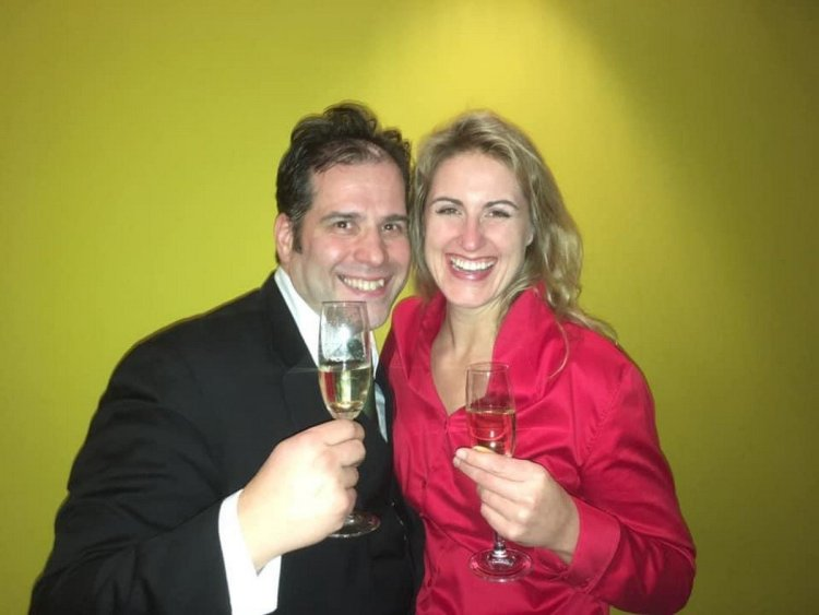 Jacquelyn Wagner with her husband conductor Martin Baeza Rubio