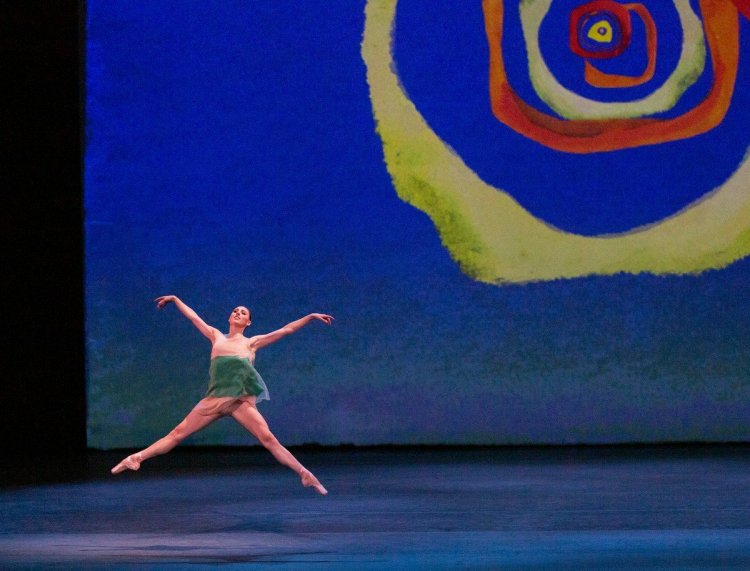 Tiler Peck in Pictures at an Exhibition. Credit Paul Kolnik