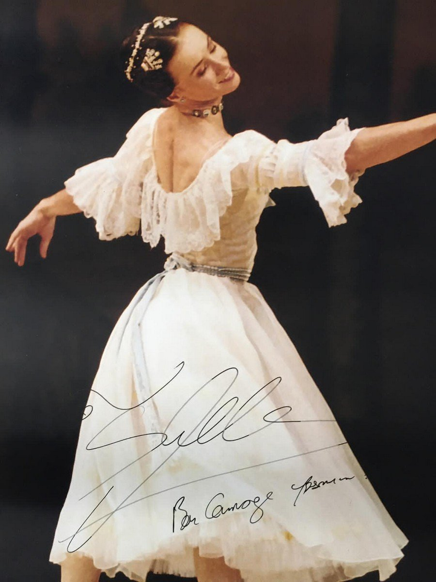 A signed poster from Sylvie Guillem