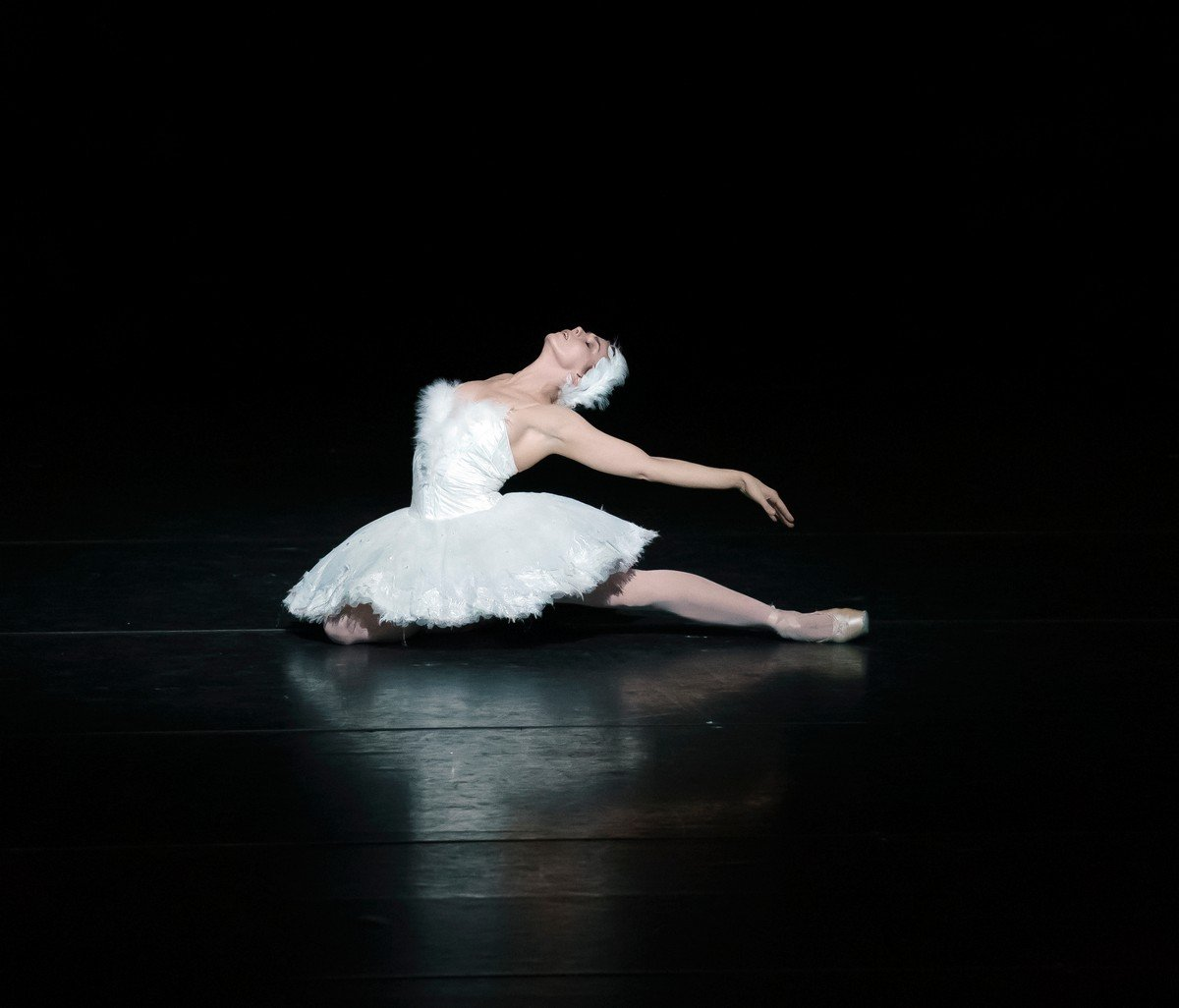 Dying Swan, Natalia Osipova, Royal Ballet Live, photo by Emma Kauldhar ROH 2020