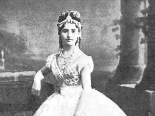 Giuseppina Bozzacchi as Coppélia, 1870 - crop