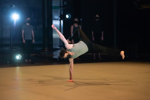 ENBS 3rd Year Men in Hannah Cameron's Extracts from contemporary classwork © photo by ASH