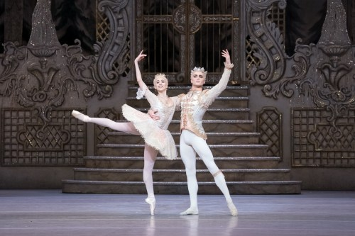 Yasmine Naghdi as The Sugar Plum Fairy and Matthew Ball as The Prince in The Nutcracker, The Royal Ballet © 2017 ROH, photo by Karolina Kuras