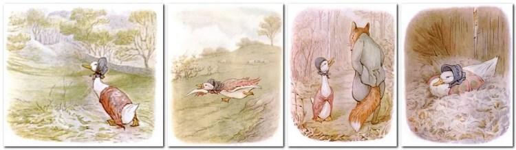 Jemima Puddle-Duck spread