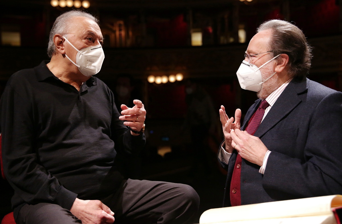 Riccardo Chailly and Zubin Mehta © Brescia Amisano, Teatro alla Scala