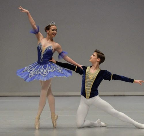 Antonio Casalinho with The Royal Ballet School's Madison Penney