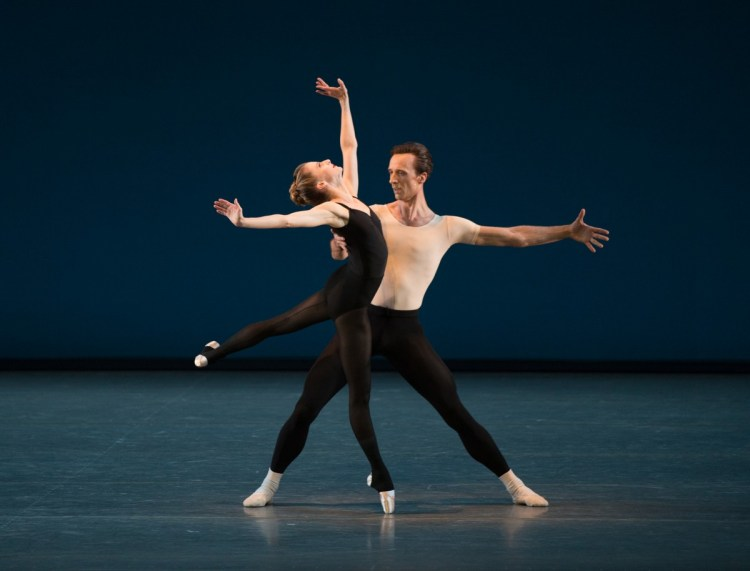 Ask la Cour and Sterling Hyltin in George Balanchine's Stravinsky Violin Concerto. Photo credit Rosalie O'Connor