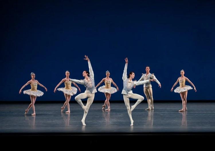 New York City Ballet in Divertimento No. 15, photo by Paul Kolnik