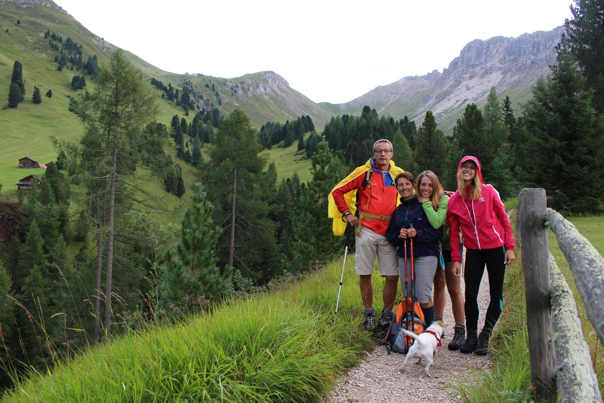 On holiday with her family in Trentino