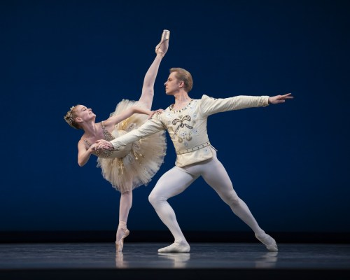 Sasha De Sola and Tiit Helimets in the finale from Balanchine's Diamonds, Choreography by George Balanchine © The Balanchine Trust; Photo © Erik Tomasson