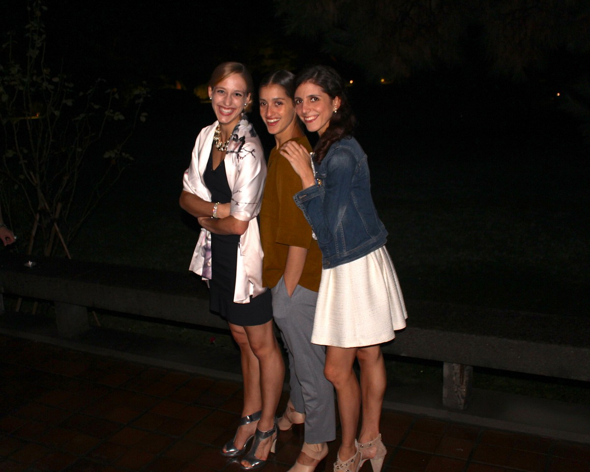 Virna Toppi with La Scala colleagues Alessandra Vassallo and Vittoria Valerio at the Italian Embassy in Tokyo