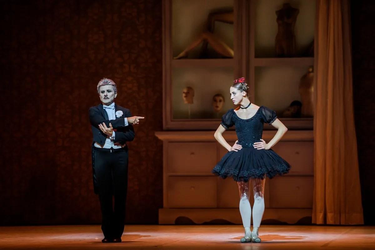 Virna Toppi with Luigi Bonino in Coppélia, photo by Gherciu Serghei, Bavarian State Ballet 2019