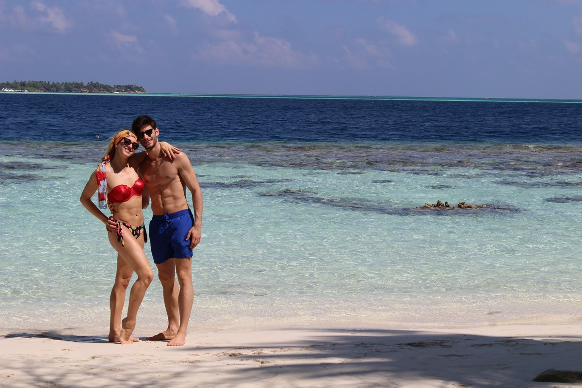 Virna on holiday in the Maldives with Nicola Del Freo