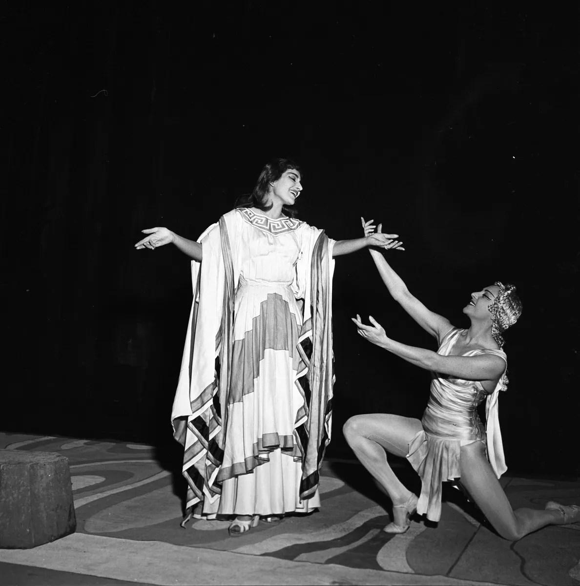 1954 Luciana Novaro in Alceste with Maria Callas, photo by Erio Piccagliani © Teatro alla Scala