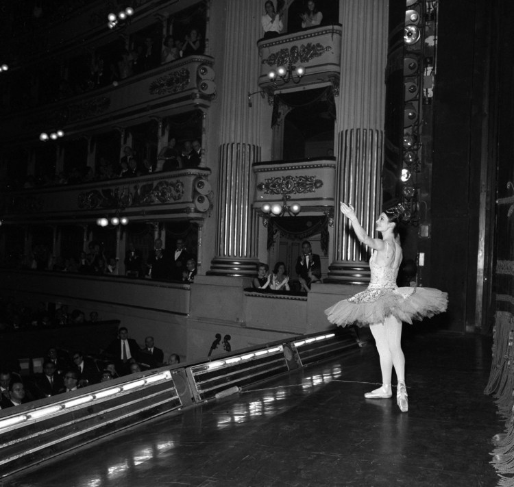 Carla Fracci after The Sleeping Beauty in 1967, photo by Erio Piccagliani