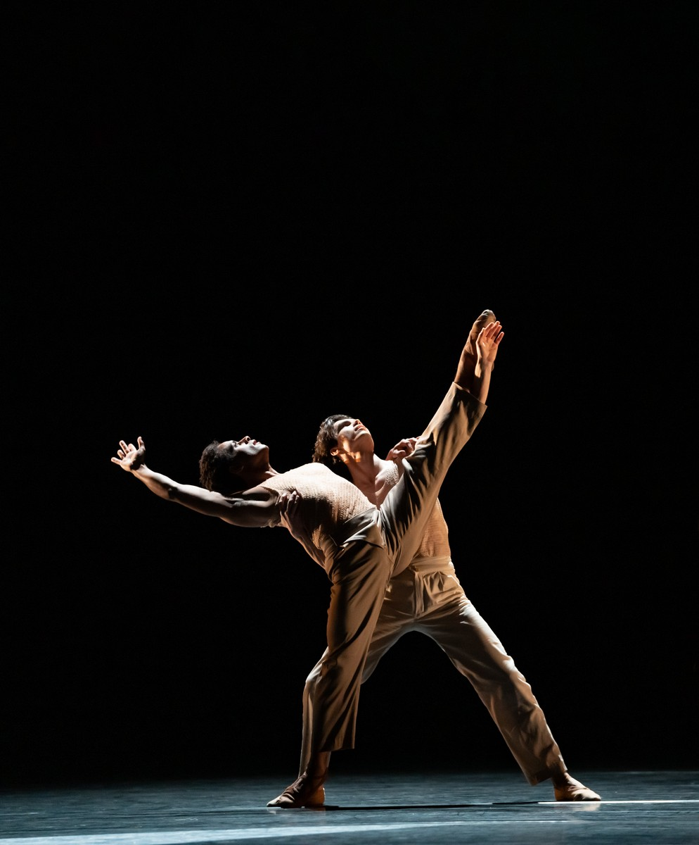 Marcelino Sambé and Stanisław Węgrzyn in the new work by Kyle Abraham, The Royal Ballet ©2021 ROH. Photograph by Bill Cooper