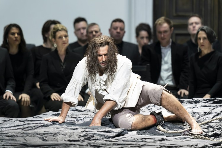 Jonas Kaufmann as Florestan in Fidelio, The Royal Opera ©2020 ROH. Photograph by Bill Cooper