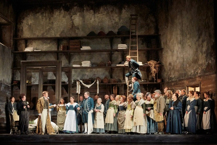 Production photo of The Marriage of Figaro © 2019 ROH. Photograph by Mark Douet
