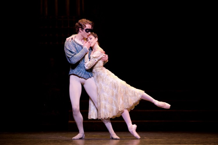 Matthew Ball and Yasmine Naghdi in Romeo and Juliet, The Royal Ballet, photo by Alice Pennefather