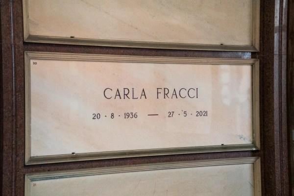 Interment of Carla Fracci's ashes, Famedio, Milan, 21 October 2021 - 3