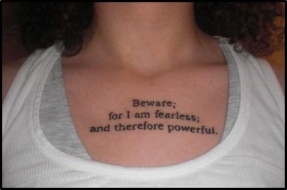 Tattoo Fail Semicolon misuse