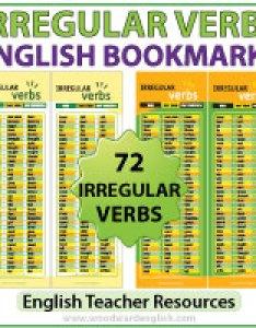 Irregular verbs in english bookmarks for esl ell students also past tense list grammar verbos rh