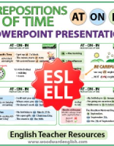 English resources also prepositions of time at on in grammar notes preposiciones rh