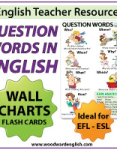 Question words in english wall chart and flash cards for teachers also teacher resources materials rh grammar